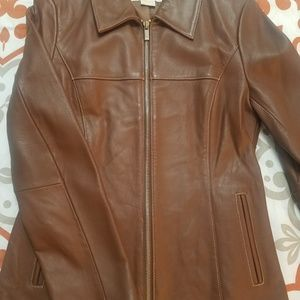 Womens Michael Kors Leather Jacket Size S!